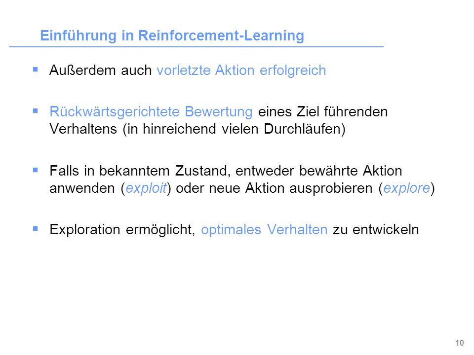 Einführung in Reinforcement-Learning