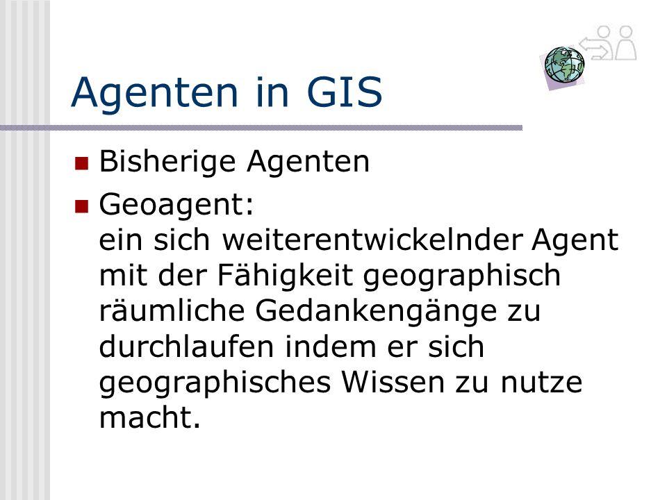 Agenten in GIS Bisherige Agenten