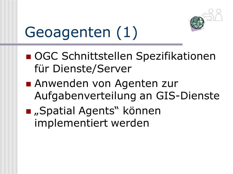 Geoagenten (1) OGC Schnittstellen Spezifikationen für Dienste/Server