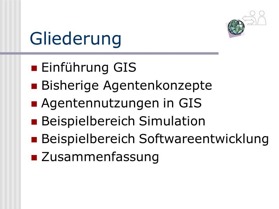 Gliederung Einführung GIS Bisherige Agentenkonzepte