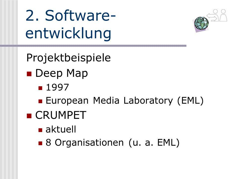 2. Software- entwicklung