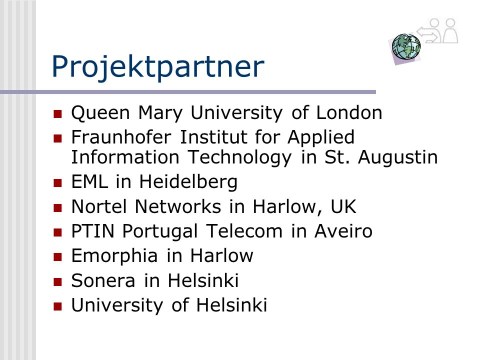 Projektpartner Queen Mary University of London