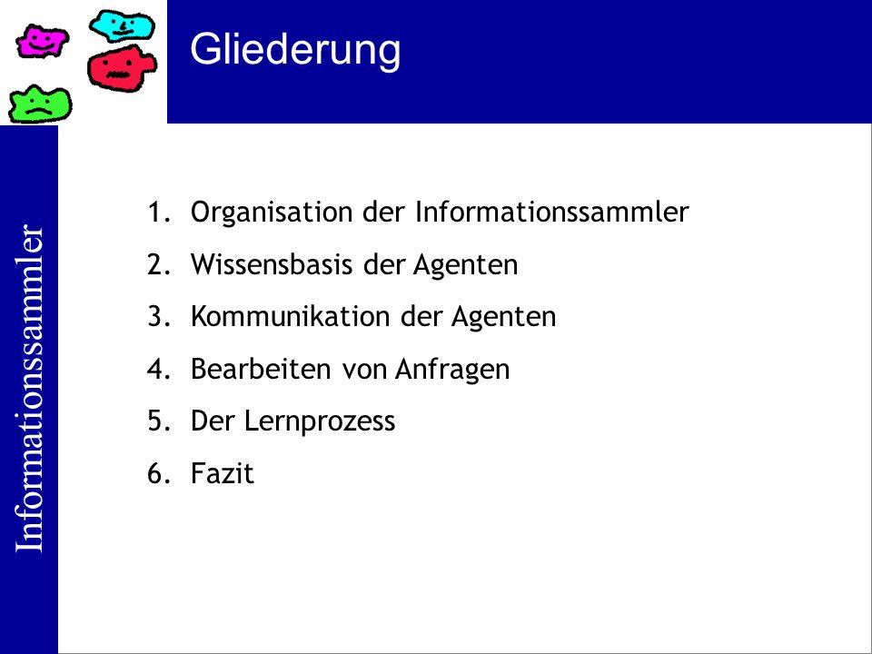 Gliederung Organisation der Informationssammler