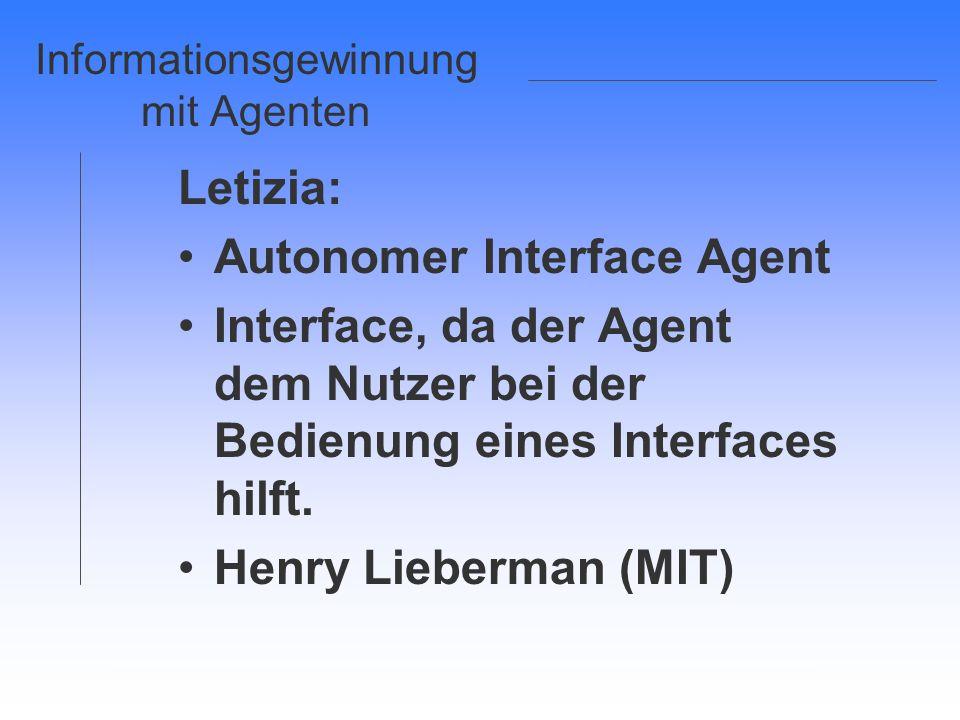 Informationsgewinnung mit Agenten