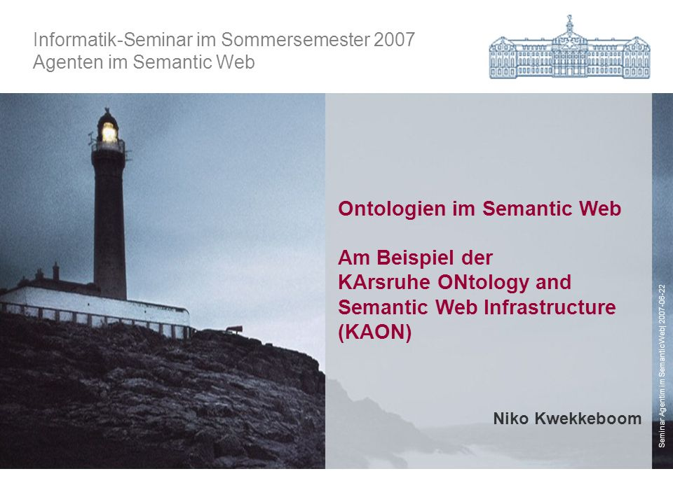 Ontologien im Semantic Web Am Beispiel der