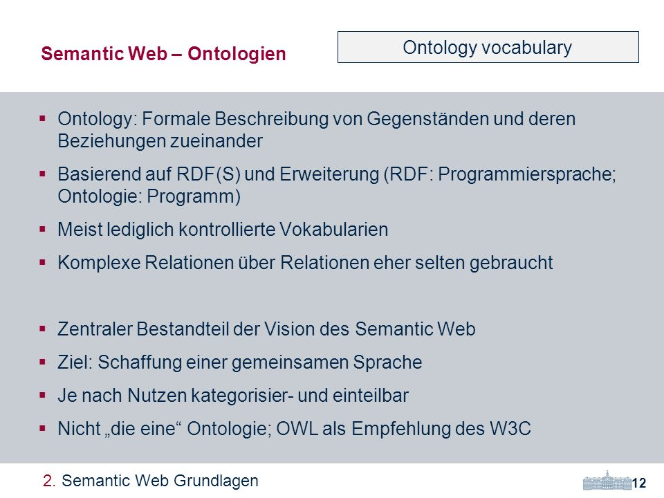 Semantic Web – Ontologien