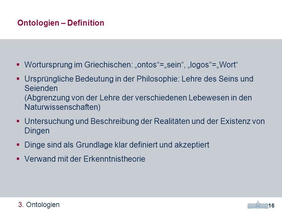 Ontologien – Definition