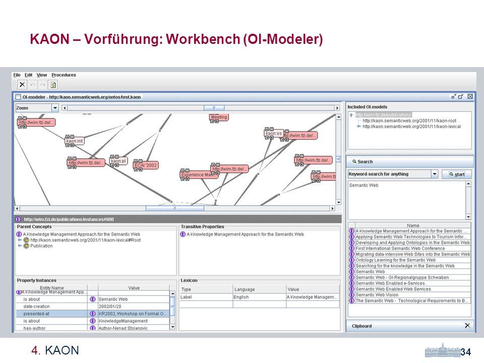 KAON – Vorführung: Workbench (OI-Modeler)