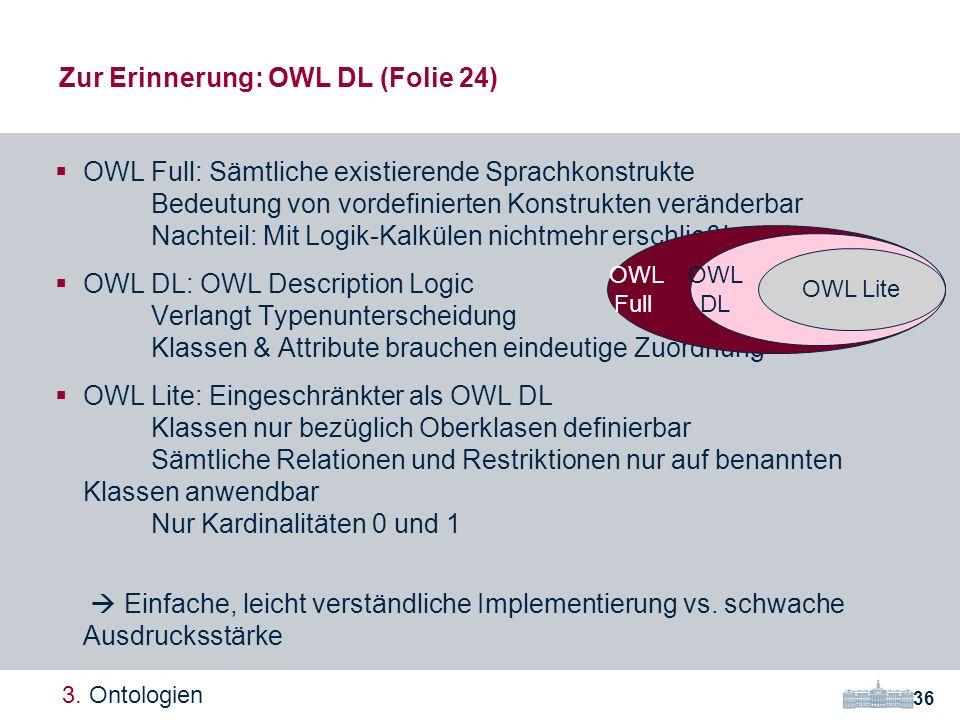 Zur Erinnerung: OWL DL (Folie 24)