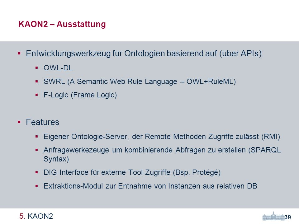 Entwicklungswerkzeug für Ontologien basierend auf (über APIs):