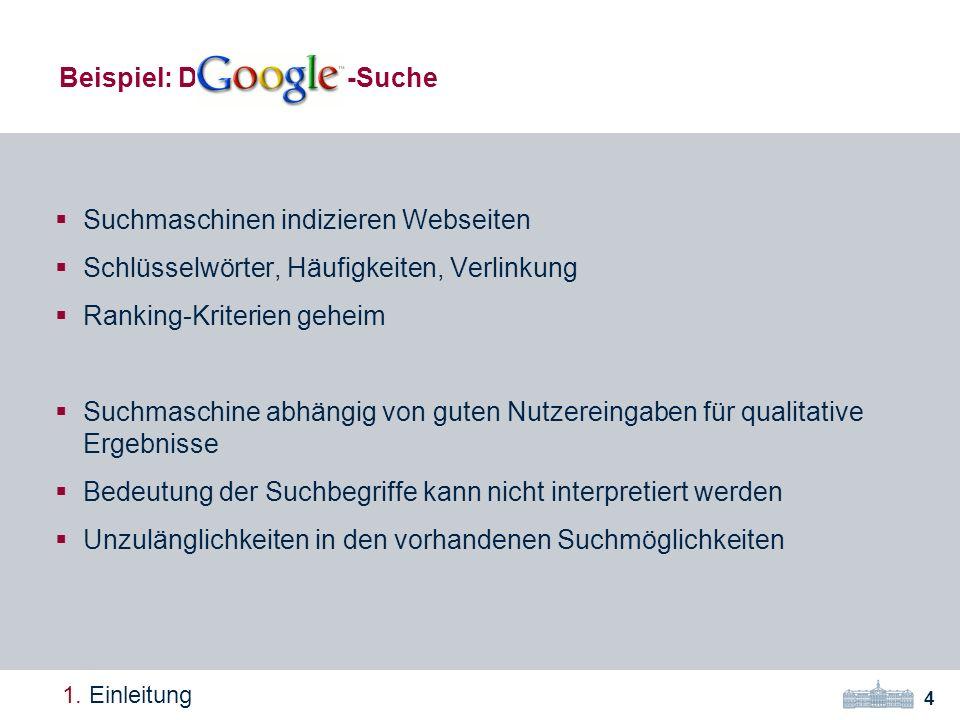 Suchmaschinen indizieren Webseiten