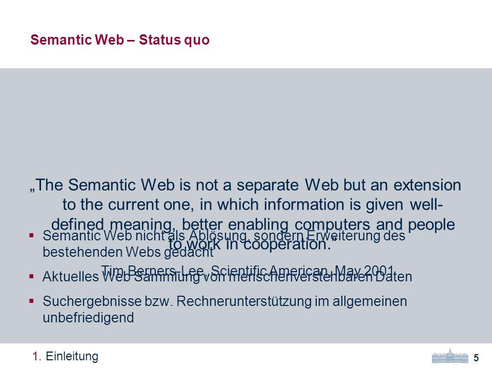 Semantic Web – Status quo