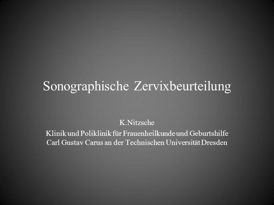 Sonographische Zervixbeurteilung