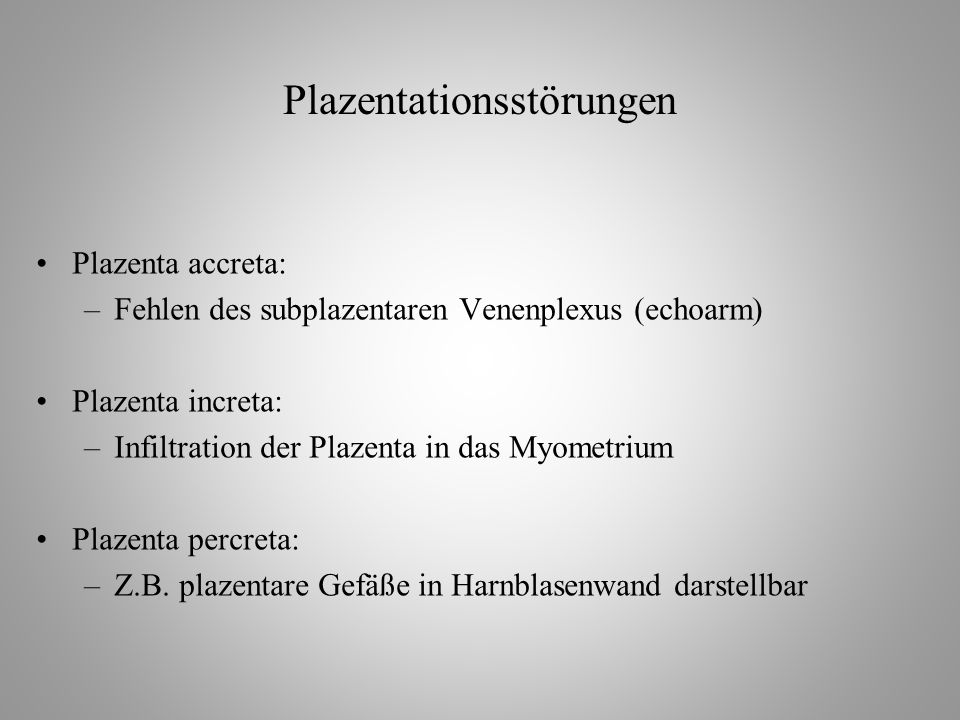 Plazentationsstörungen