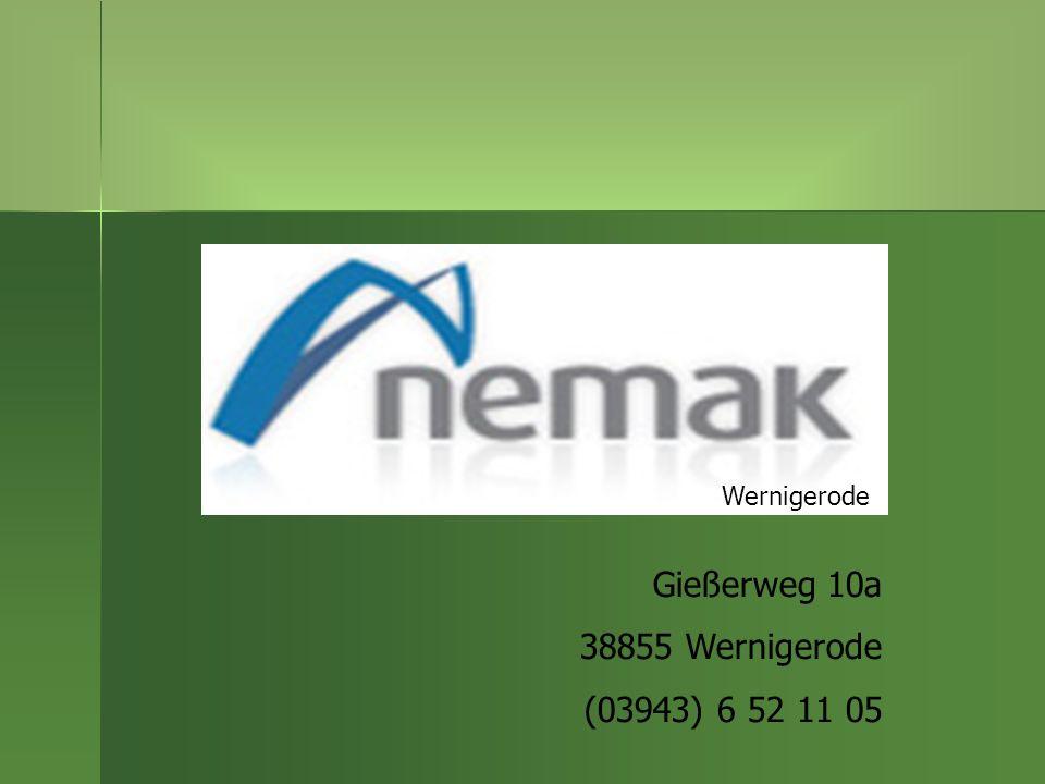 Wernigerode Gießerweg 10a 38855 Wernigerode (03943) 6 52 11 05