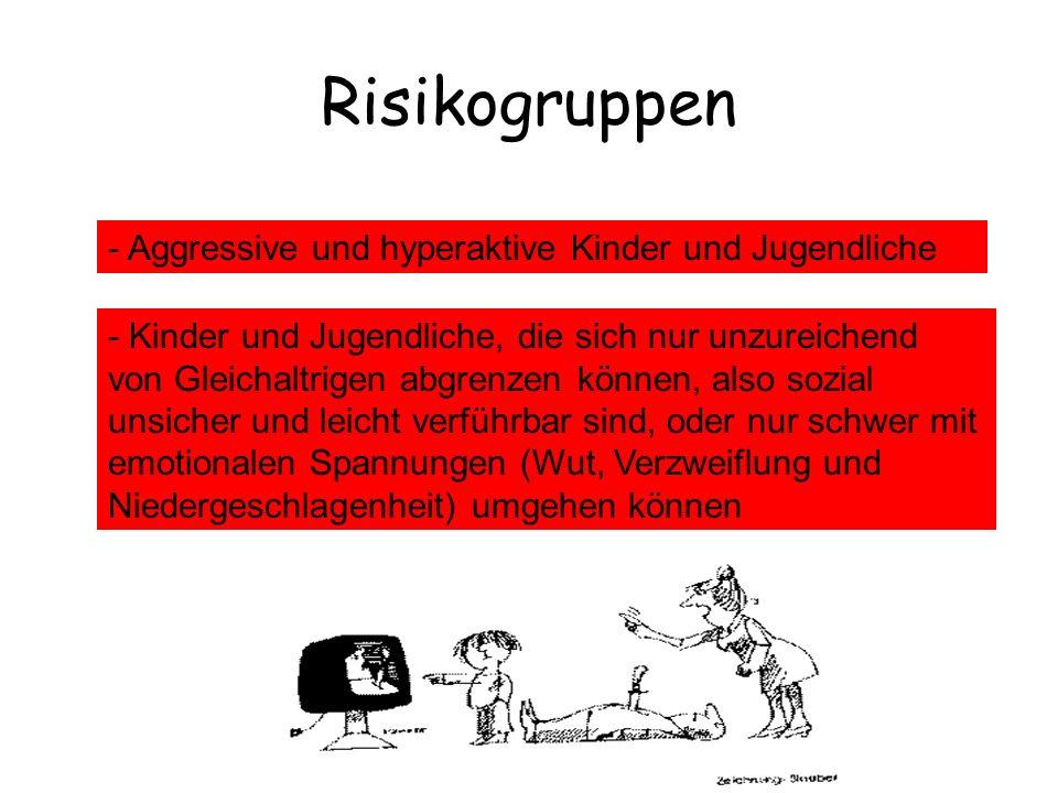 Risikogruppen - Aggressive und hyperaktive Kinder und Jugendliche