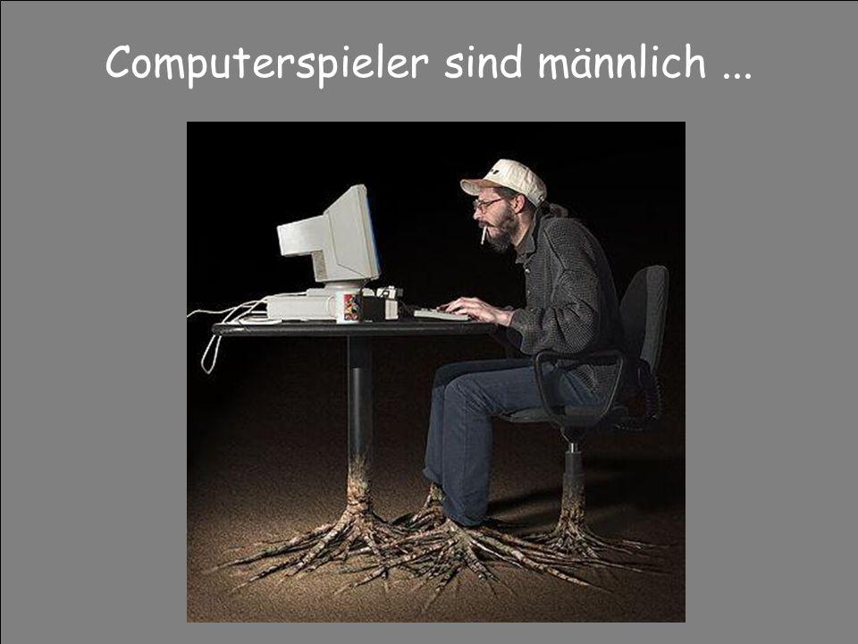 Computerspieler sind männlich ...