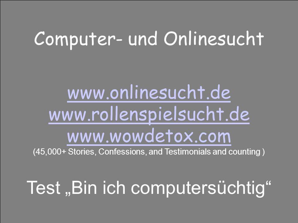 Computer- und Onlinesucht