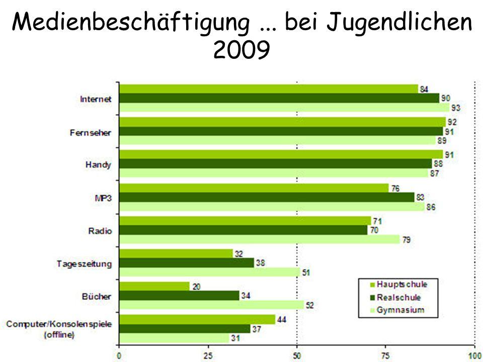 Medienbeschäftigung ... bei Jugendlichen 2009