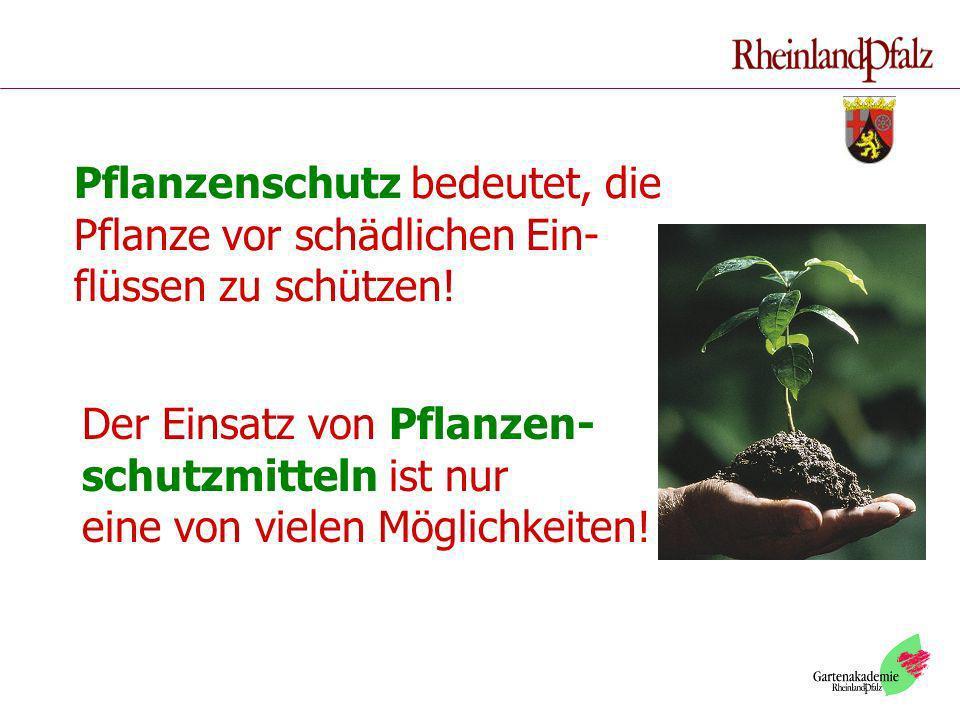 Pflanzenschutz bedeutet, die Pflanze vor schädlichen Ein- flüssen zu schützen!