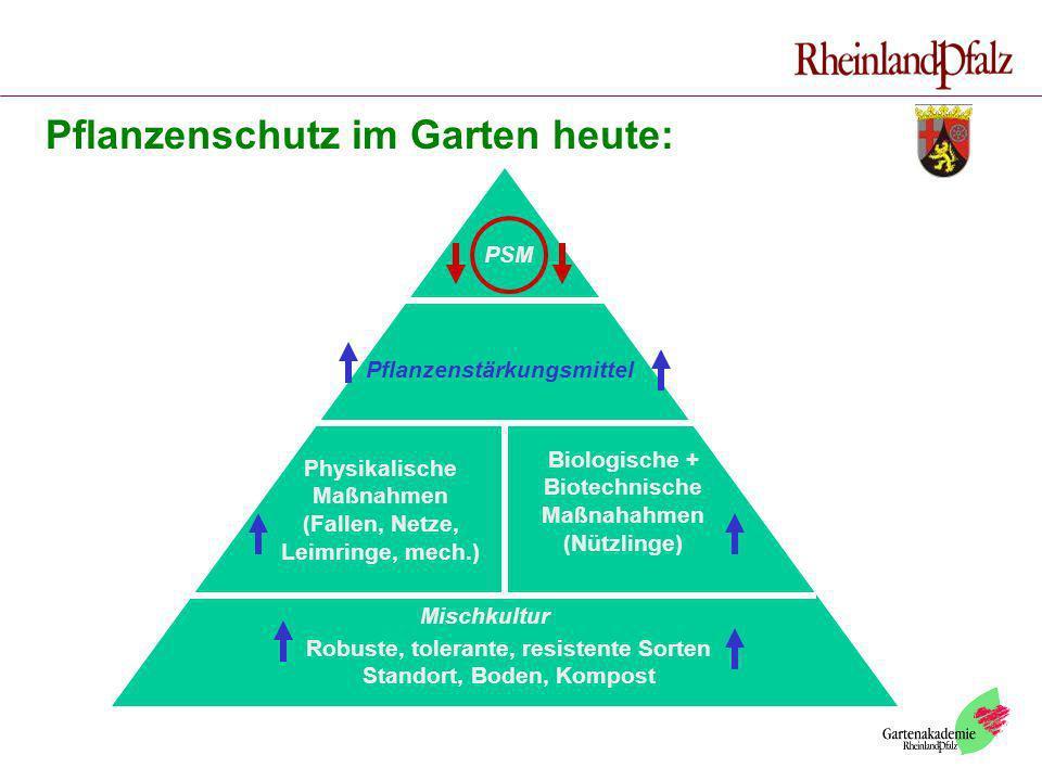 Pflanzenschutz im Garten heute: