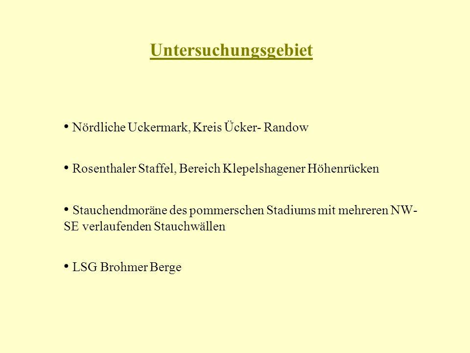 Untersuchungsgebiet • Nördliche Uckermark, Kreis Ücker- Randow