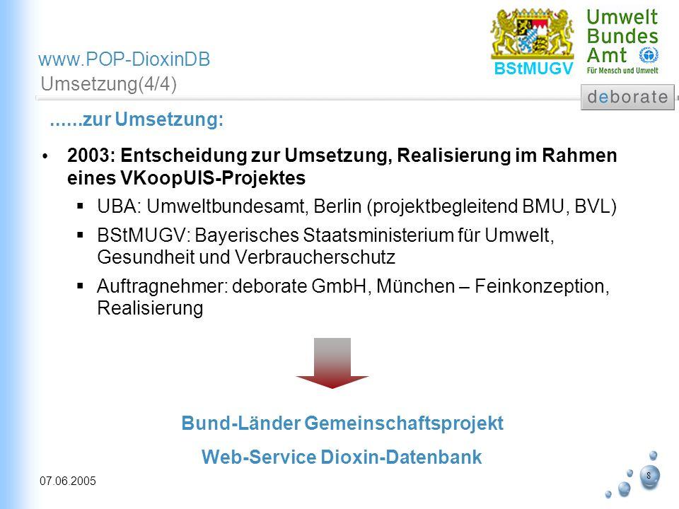 Bund-Länder Gemeinschaftsprojekt Web-Service Dioxin-Datenbank