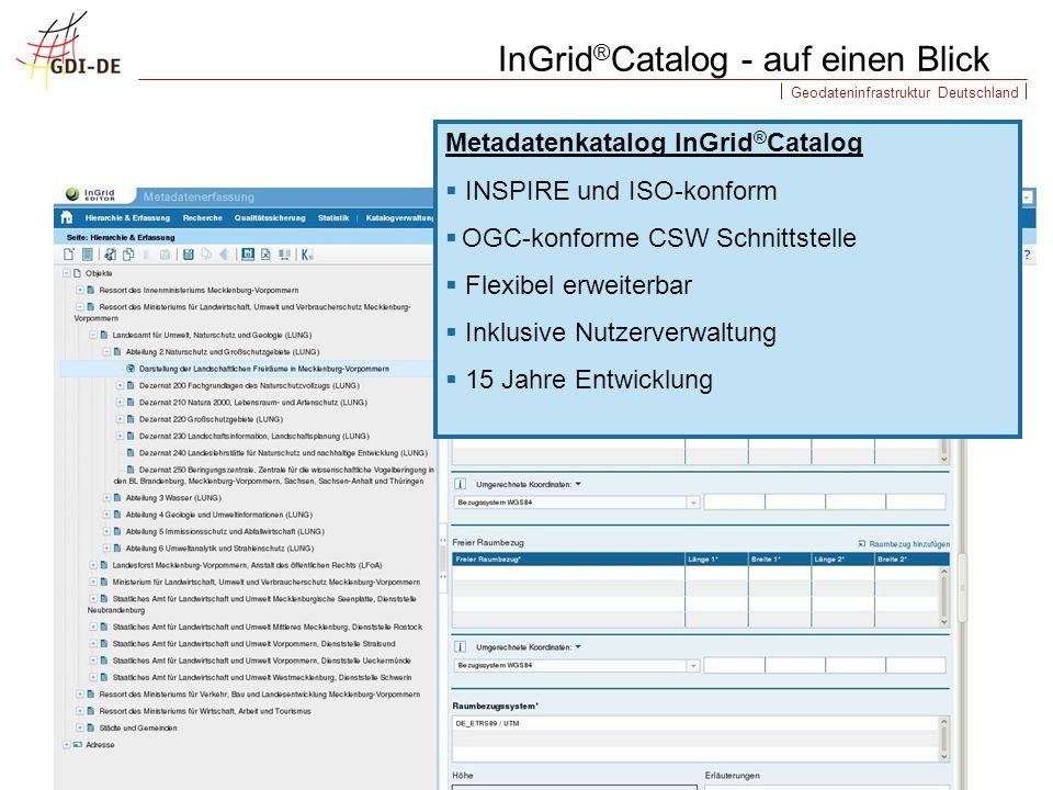 InGrid®Catalog - auf einen Blick