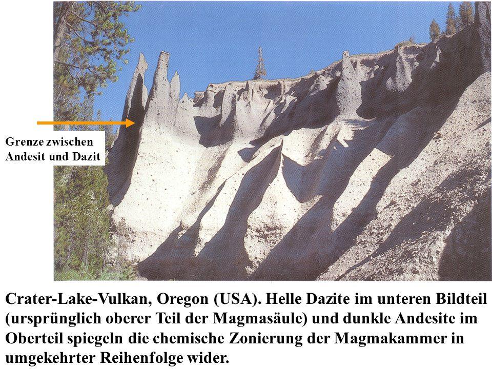 Grenze zwischen Andesit und Dazit.
