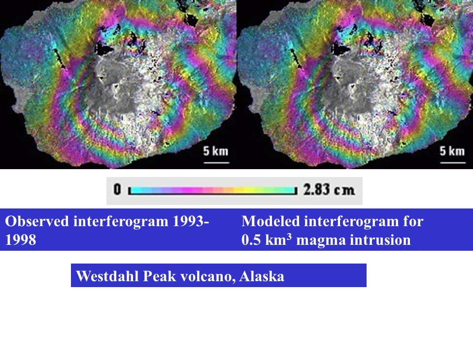 Observed interferogram 1993-1998