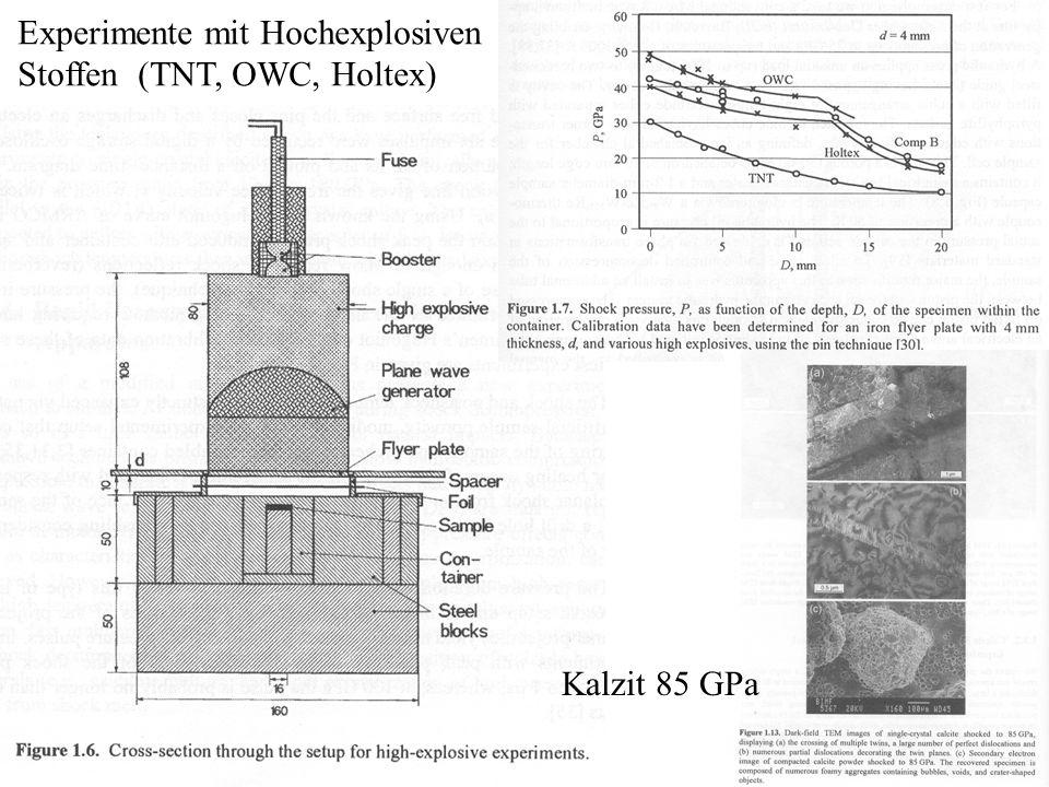 Experimente mit Hochexplosiven Stoffen (TNT, OWC, Holtex)