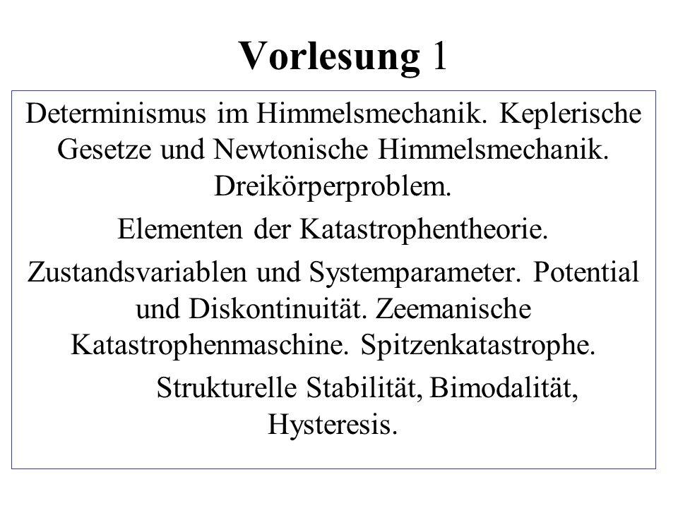 Vorlesung 1 Determinismus im Himmelsmechanik. Keplerische Gesetze und Newtonische Himmelsmechanik. Dreikörperproblem.