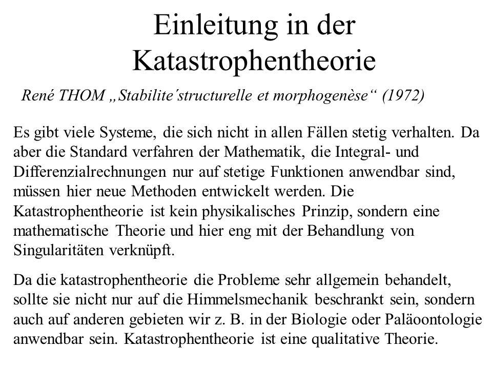 Einleitung in der Katastrophentheorie