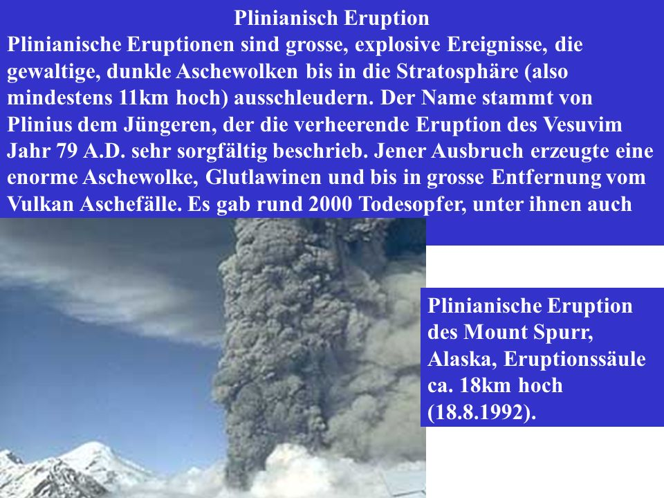 Plinianisch Eruption