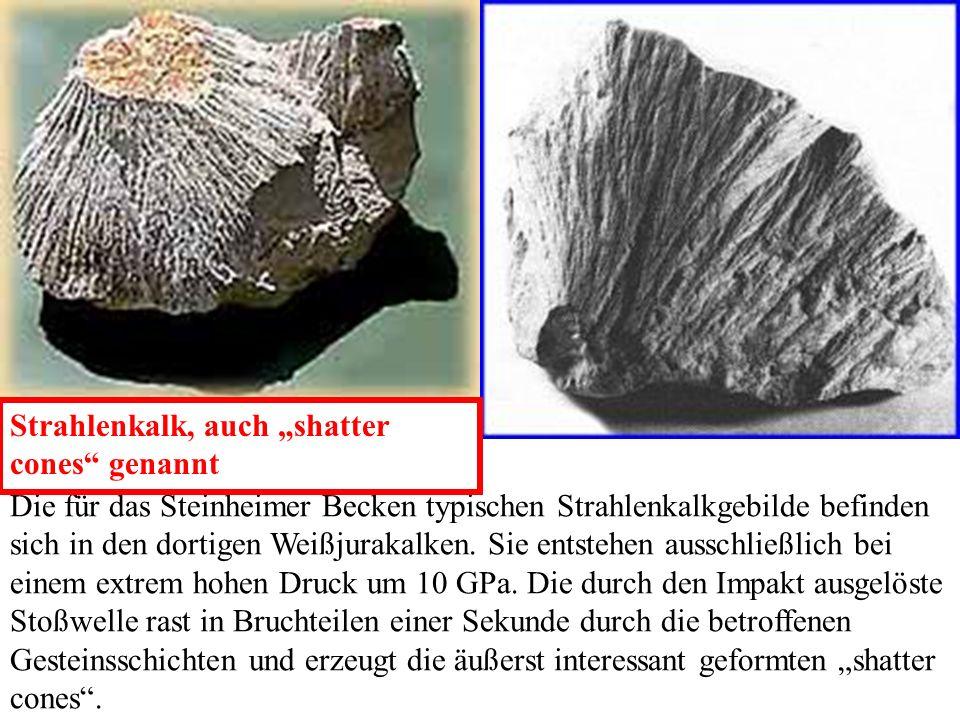 """Strahlenkalk, auch """"shatter cones genannt"""