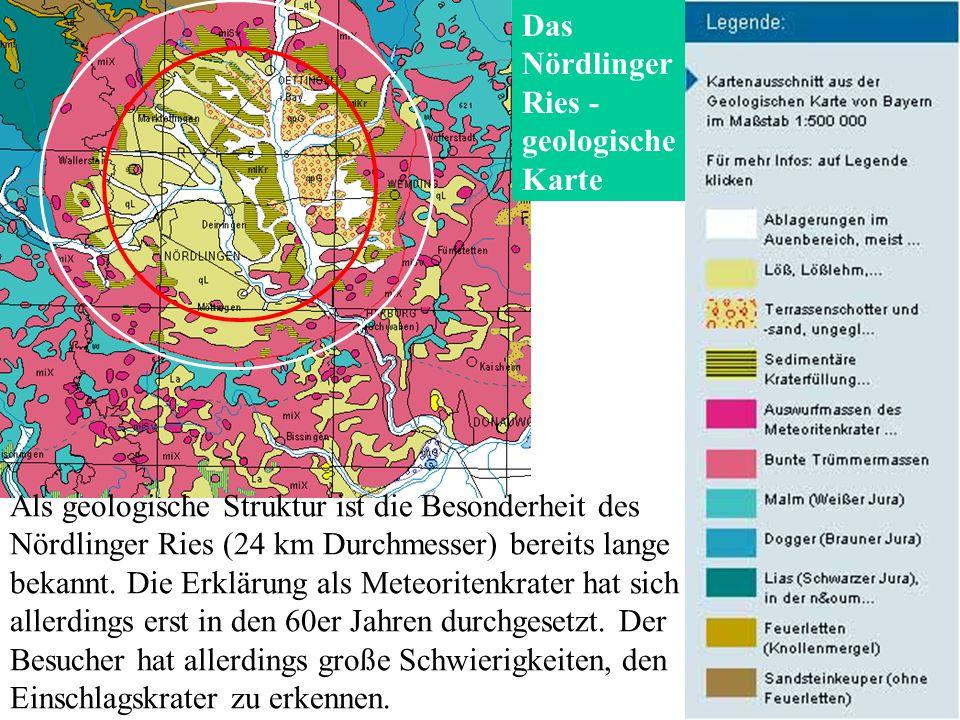 Das Nördlinger Ries - geologische Karte