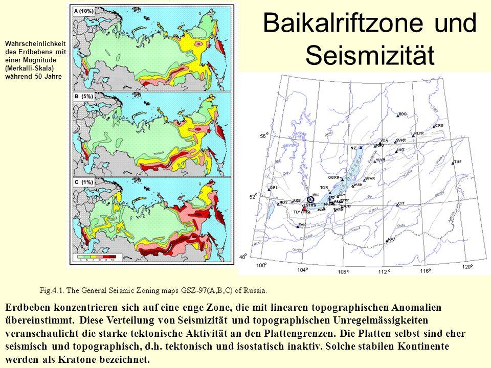 Baikalriftzone und Seismizität