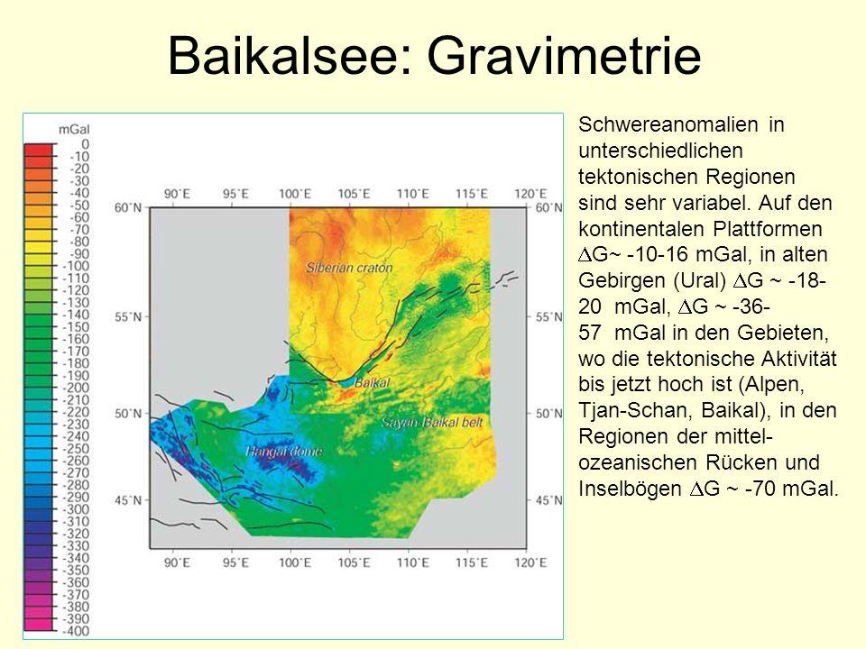 Baikalsee: Gravimetrie