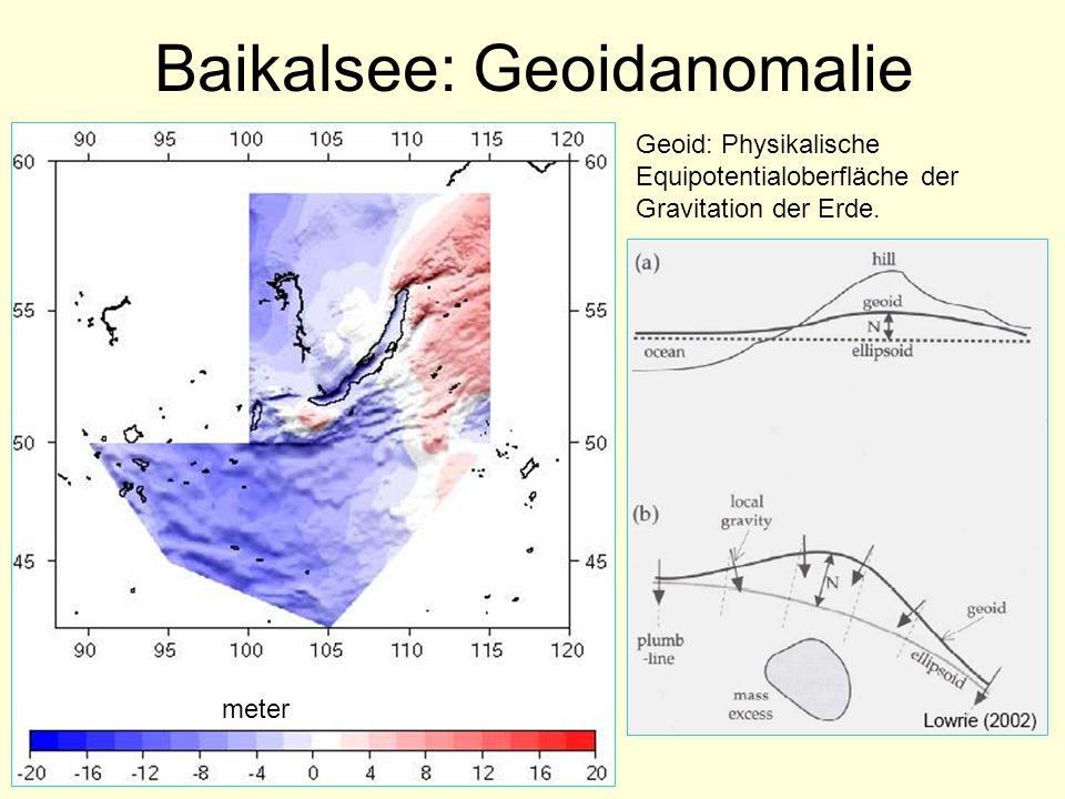 Baikalsee: Geoidanomalie