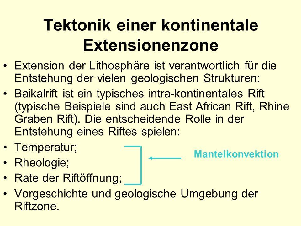 Tektonik einer kontinentale Extensionenzone