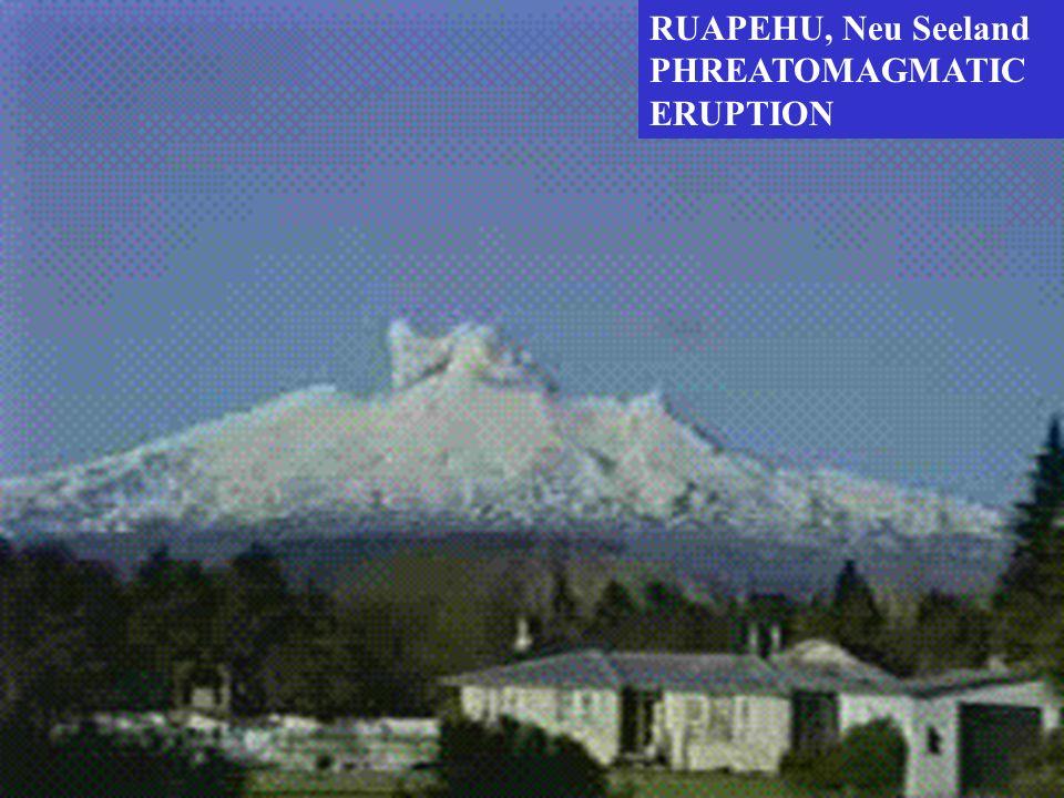 RUAPEHU, Neu Seeland PHREATOMAGMATIC ERUPTION