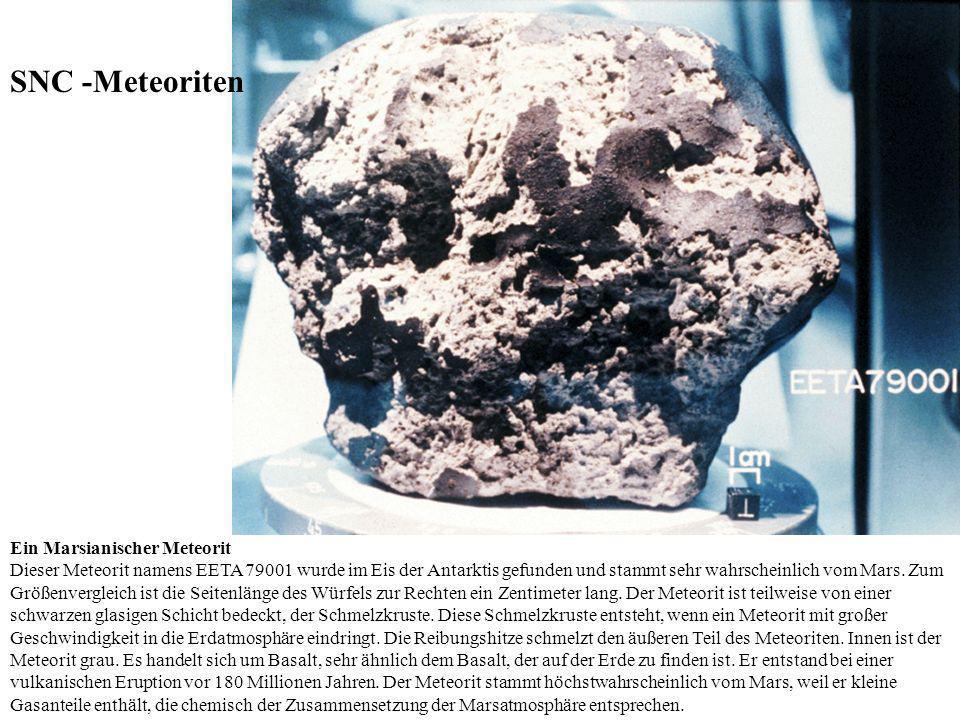 SNC -Meteoriten Ein Marsianischer Meteorit