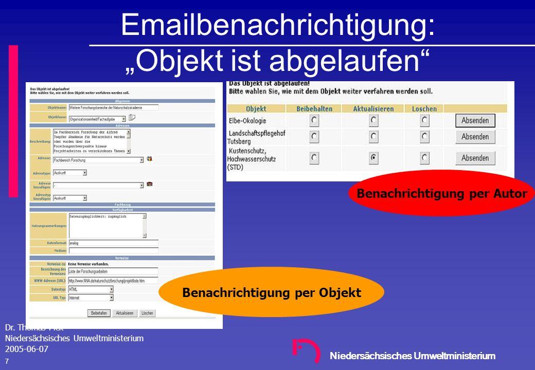 """Emailbenachrichtigung: """"Objekt ist abgelaufen"""
