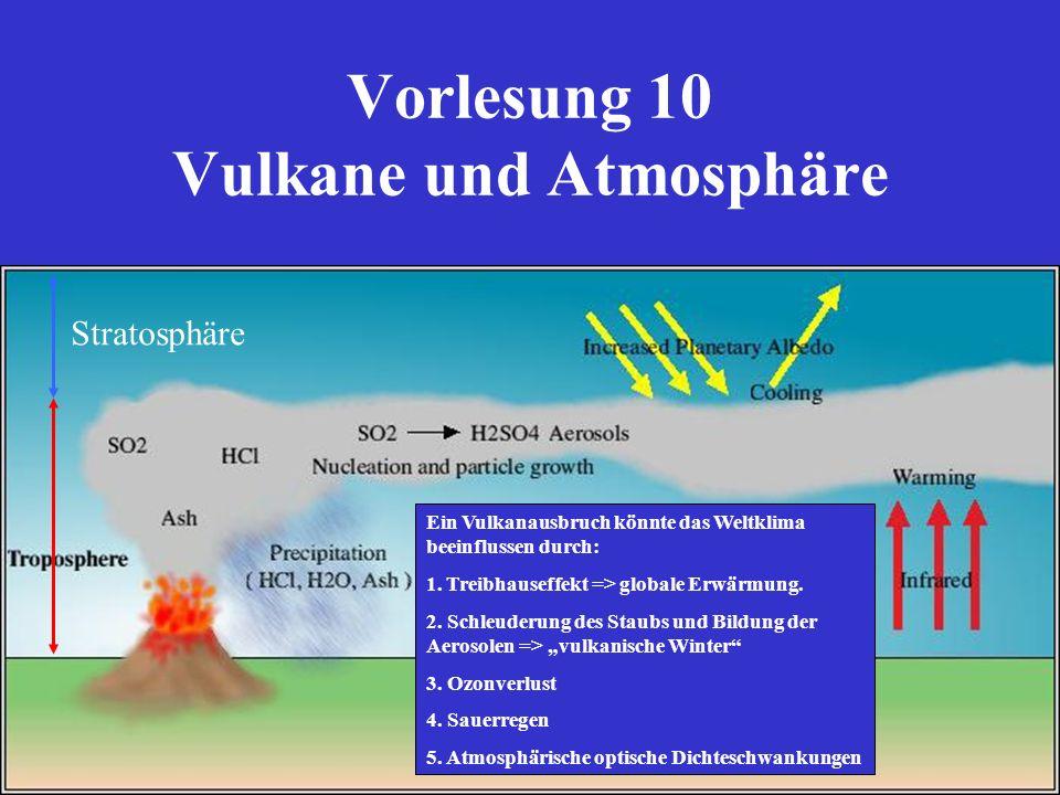 Vorlesung 10 Vulkane und Atmosphäre