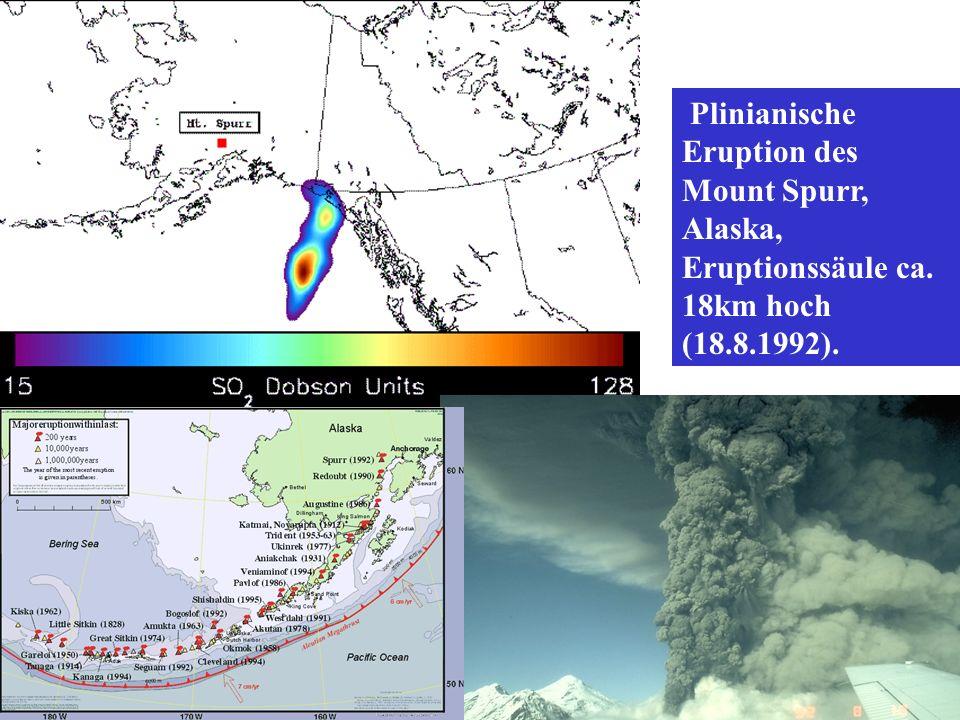 Plinianische Eruption des Mount Spurr, Alaska, Eruptionssäule ca