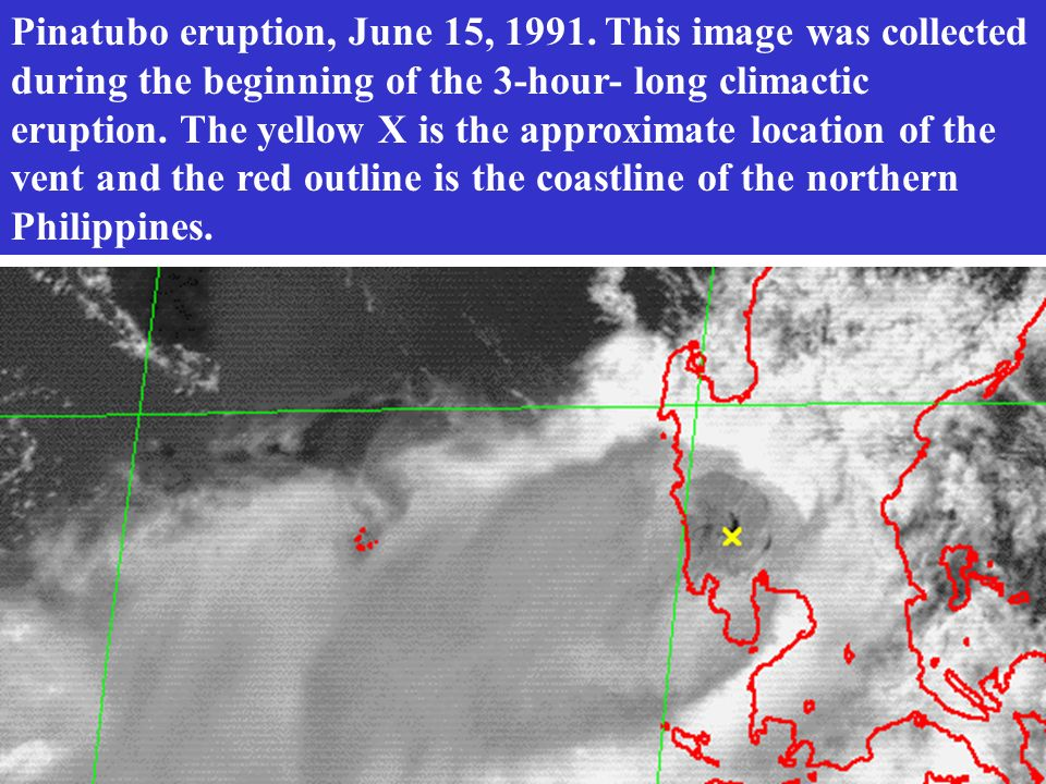Pinatubo eruption, June 15, 1991