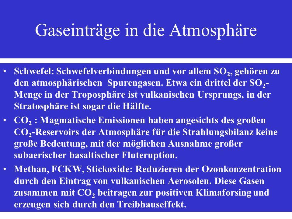 Gaseinträge in die Atmosphäre