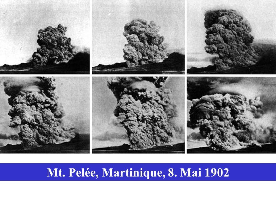 Mt. Pelée, Martinique, 8. Mai 1902