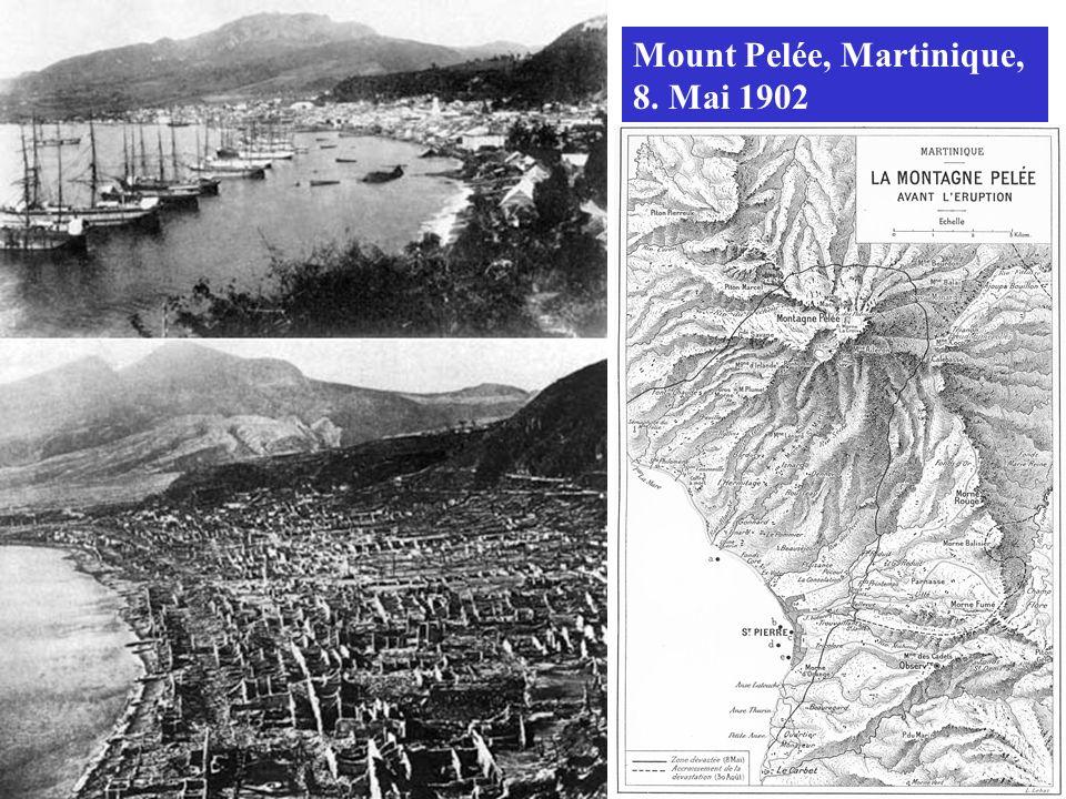 Mount Pelée, Martinique, 8. Mai 1902