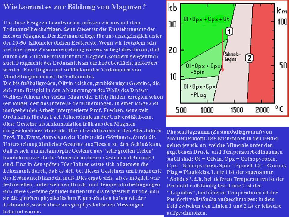 Wie kommt es zur Bildung von Magmen